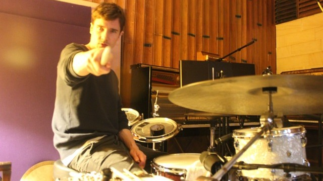 Recording drums with Dustin Tebbutt & Dave Jenkins at Oceanic