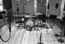 recording drums for a new tetema album